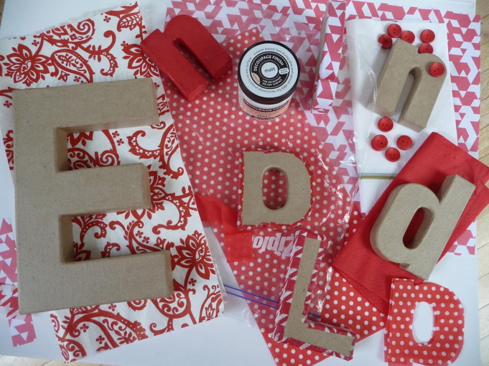 projects decoupage letters