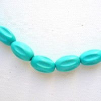 grooved oval - turquoise