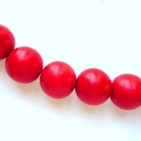 red 15mm beads