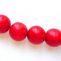 red 20mm beads