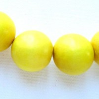 yellow 25mm beads