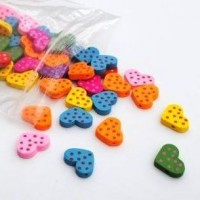 heart with dots - 100 pack