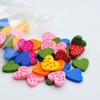 heart with dots - 50 pack
