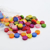 round with dot flower - 100 pack