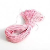 cotton wax cord - 50m baby pink