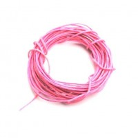 cotton wax cord - 5m baby pink