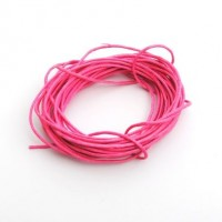 cotton wax cord - 5m candy pink