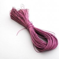 cotton wax cord - 50m dusky pink