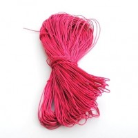 cotton wax cord - 50m fucshia