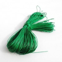 cotton wax cord - 50m green