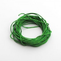cotton wax cord - 5m green