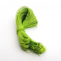cotton wax cord - 50m lime