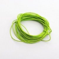 cotton wax cord - 5m lime