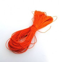 cotton wax cord - 50m orange