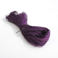 cotton wax cord - 50m purple