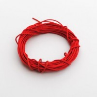 cotton wax cord - 5m red
